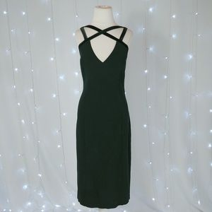 Maria Bianca Nero Black Sleeveless Midi Dress